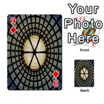 Stained Glass Colorful Glass Playing Cards 54 Designs  Front - Diamond9