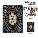 Stained Glass Colorful Glass Playing Cards 54 Designs  Front - Club2