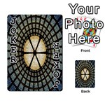 Stained Glass Colorful Glass Playing Cards 54 Designs  Front - Joker1