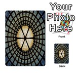 Stained Glass Colorful Glass Playing Cards 54 Designs  Back