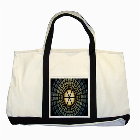 Stained Glass Colorful Glass Two Tone Tote Bag