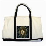 Stained Glass Colorful Glass Two Tone Tote Bag Front