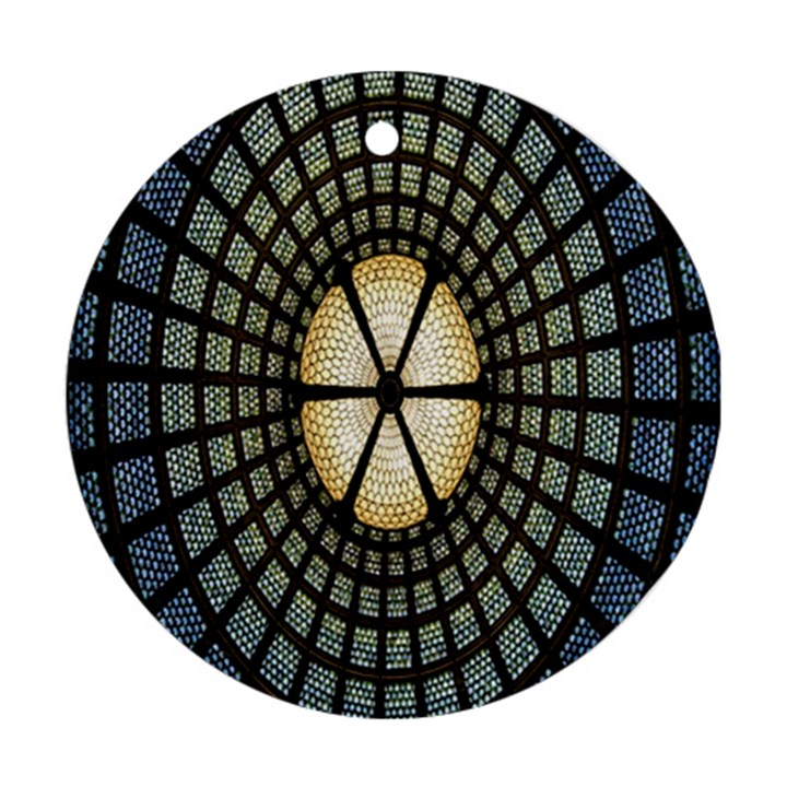 Stained Glass Colorful Glass Round Ornament (Two Sides)