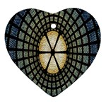 Stained Glass Colorful Glass Heart Ornament (2 Sides) Front