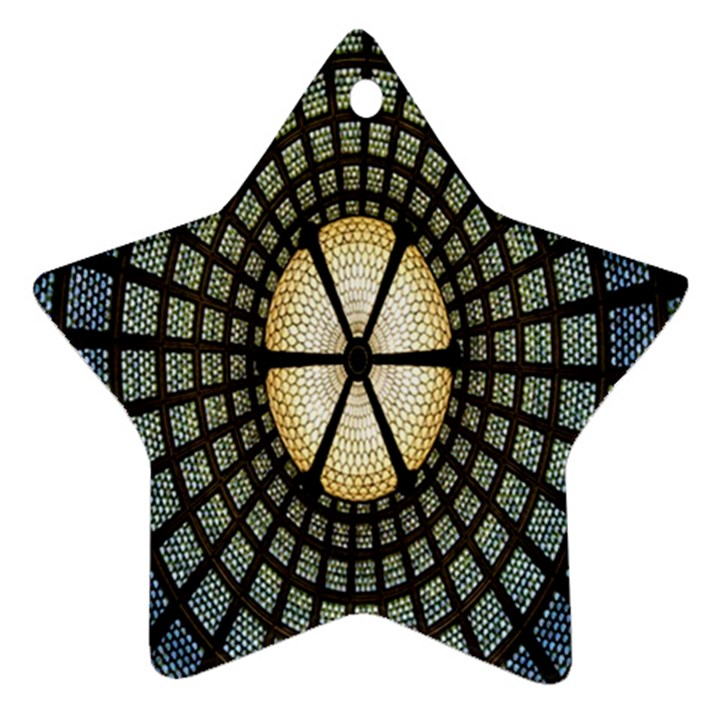 Stained Glass Colorful Glass Star Ornament (Two Sides)