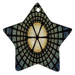 Stained Glass Colorful Glass Star Ornament (Two Sides)  Back