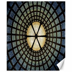Stained Glass Colorful Glass Canvas 8  x 10