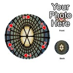 Stained Glass Colorful Glass Playing Cards 54 (Round)  Front - Heart7