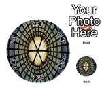 Stained Glass Colorful Glass Playing Cards 54 (Round)  Front - Spade4