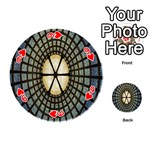Stained Glass Colorful Glass Playing Cards 54 (Round)  Front - Heart9
