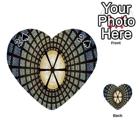 Stained Glass Colorful Glass Playing Cards 54 (Heart)