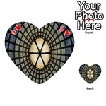 Stained Glass Colorful Glass Playing Cards 54 (Heart)  Front - Heart9