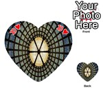 Stained Glass Colorful Glass Playing Cards 54 (Heart)  Front - Heart10