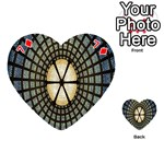 Stained Glass Colorful Glass Playing Cards 54 (Heart)  Front - Diamond7
