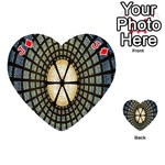 Stained Glass Colorful Glass Playing Cards 54 (Heart)  Front - DiamondJ