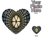 Stained Glass Colorful Glass Playing Cards 54 (Heart)  Front - ClubK