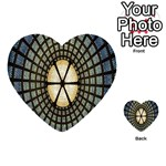 Stained Glass Colorful Glass Playing Cards 54 (Heart)  Back