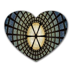 Stained Glass Colorful Glass Heart Mousepads