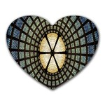 Stained Glass Colorful Glass Heart Mousepads Front