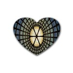 Stained Glass Colorful Glass Rubber Coaster (Heart)  Front