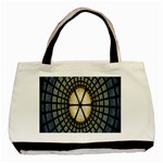 Stained Glass Colorful Glass Basic Tote Bag (Two Sides) Back