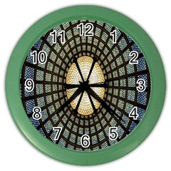 Stained Glass Colorful Glass Color Wall Clocks