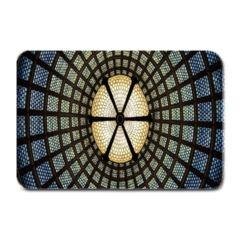 Stained Glass Colorful Glass Plate Mats