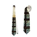Stained Glass Colorful Glass Neckties (One Side)  Front