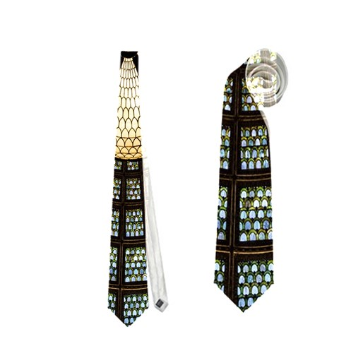 Stained Glass Colorful Glass Neckties (Two Side)