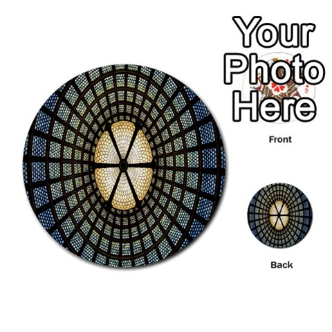 Stained Glass Colorful Glass Multi-purpose Cards (Round)