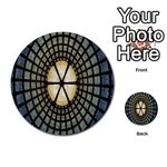 Stained Glass Colorful Glass Multi-purpose Cards (Round)  Back 34