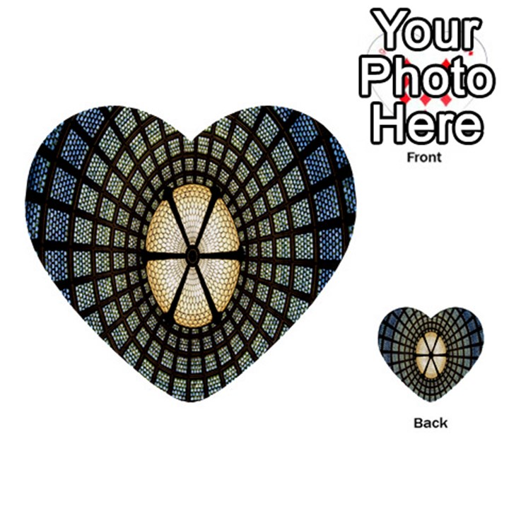 Stained Glass Colorful Glass Multi-purpose Cards (Heart)