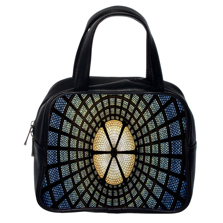 Stained Glass Colorful Glass Classic Handbags (One Side)