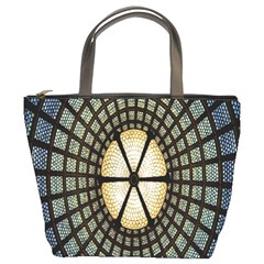 Stained Glass Colorful Glass Bucket Bags