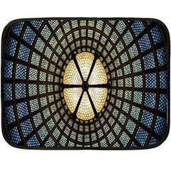 Stained Glass Colorful Glass Double Sided Fleece Blanket (Mini)