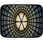 Stained Glass Colorful Glass Double Sided Fleece Blanket (Mini)  35 x27 Blanket Back