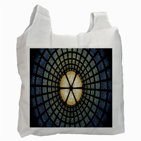 Stained Glass Colorful Glass Recycle Bag (One Side)