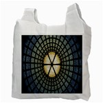 Stained Glass Colorful Glass Recycle Bag (Two Side)  Back