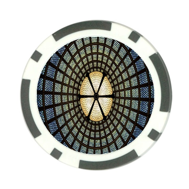 Stained Glass Colorful Glass Poker Chip Card Guards (10 pack)