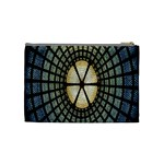 Stained Glass Colorful Glass Cosmetic Bag (Medium)  Back
