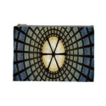 Stained Glass Colorful Glass Cosmetic Bag (Large)  Front
