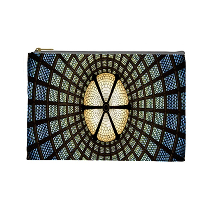 Stained Glass Colorful Glass Cosmetic Bag (Large)