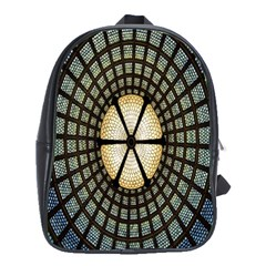 Stained Glass Colorful Glass School Bags(Large)