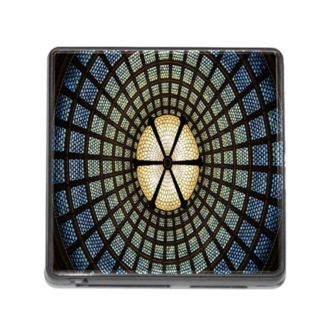 Stained Glass Colorful Glass Memory Card Reader (Square)