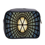 Stained Glass Colorful Glass Mini Toiletries Bag 2-Side Back