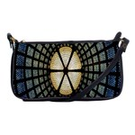 Stained Glass Colorful Glass Shoulder Clutch Bags Front