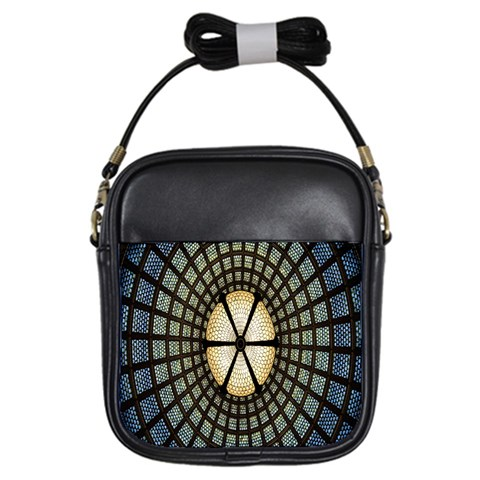Stained Glass Colorful Glass Girls Sling Bags