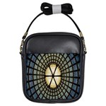 Stained Glass Colorful Glass Girls Sling Bags Front