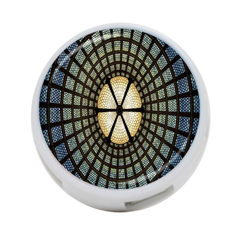 Stained Glass Colorful Glass 4-Port USB Hub (Two Sides)