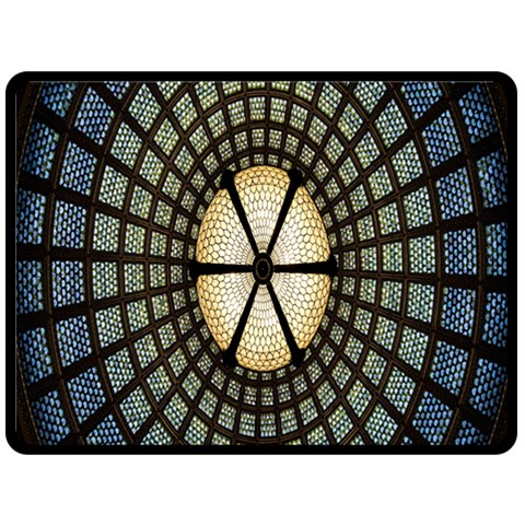 Stained Glass Colorful Glass Fleece Blanket (Large)
